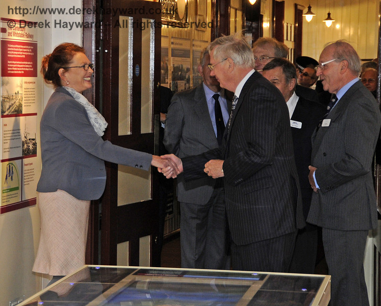 The Duke of Gloucester is introduced to Quinta Deane, Museum Steward.  10.10.2013  8277