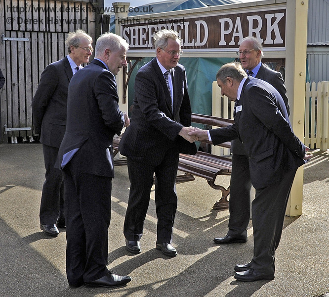 The Duke of Gloucester is introduced to Tony Drake, Museum Curator.  10.10.2013  8259
