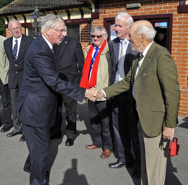 Ken Measures is presented to the Duke of Gloucester.  10.10.2013  8245