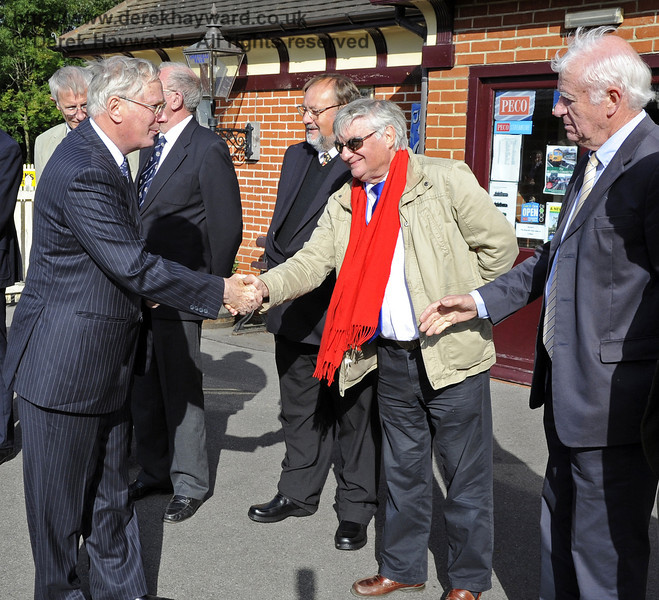 Allen Barnes is presented to the Duke of Gloucester.  10.10.2013  8243