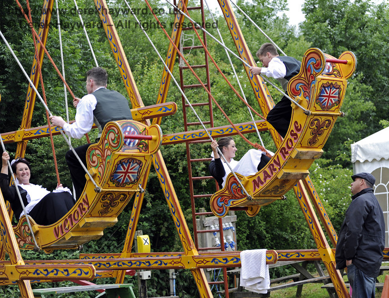 """After the event had closed and the public had left, the staff had some """"down time"""" in the fairground.  Edwardian Weekend, Horsted Keynes, 22.06.2013  7405"""
