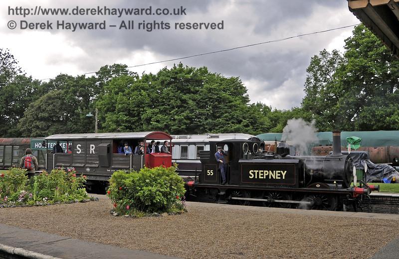 55 Stepney providing brake van rides.  Edwardian Weekend, Horsted Keynes, 22.06.2013  9048