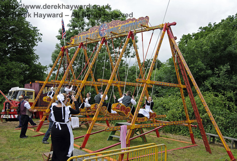 """After the event had closed and the public had left, the staff had some """"down time"""" in the fairground.  Edwardian Weekend, Horsted Keynes, 22.06.2013  9104"""