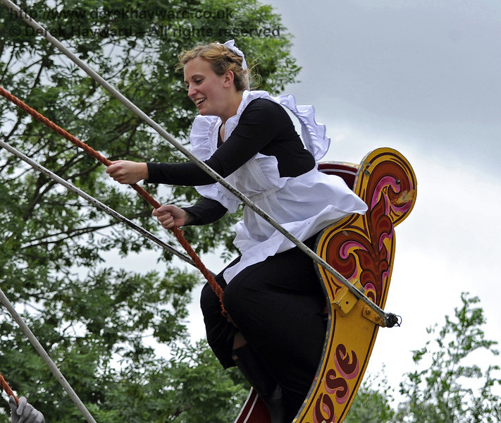 """After the event had closed and the public had left, the staff had some """"down time"""" in the fairground.  Edwardian Weekend, Horsted Keynes, 22.06.2013  7358"""