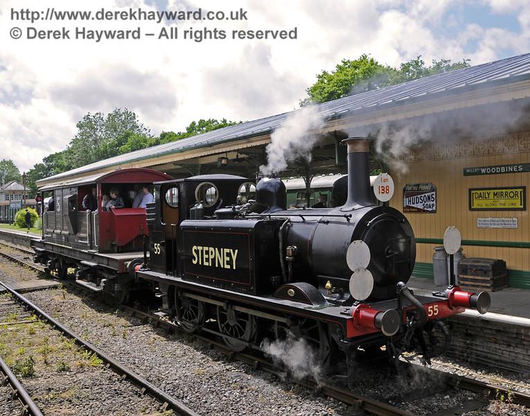 55 Stepney providing brake van rides.  Edwardian Weekend, Horsted Keynes, 22.06.2013  8973