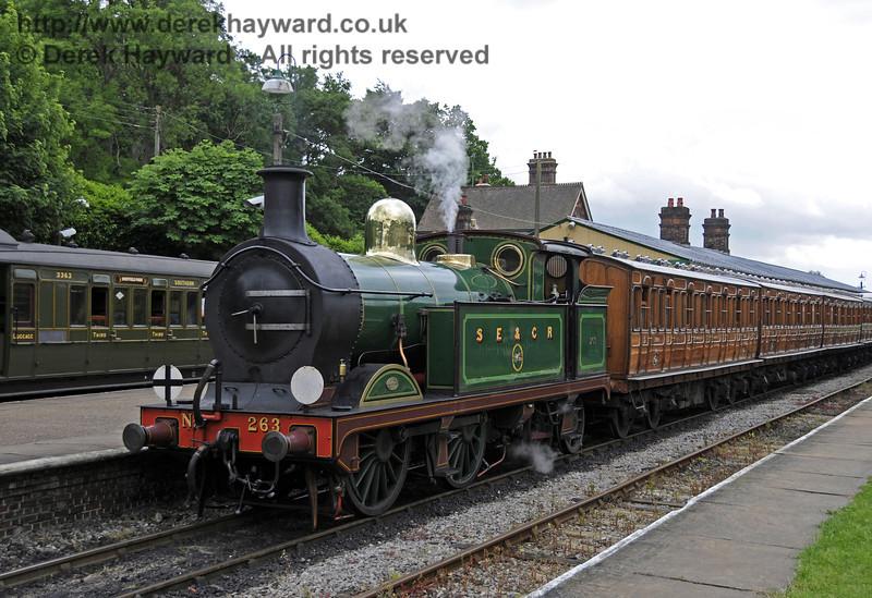 263 stands at Horsted Keynes.  Edwardian Weekend, 23.06.2013 9167
