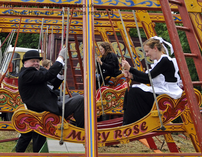 """After the event had closed and the public had left, the staff had some """"down time"""" in the fairground.  Edwardian Weekend, Horsted Keynes, 22.06.2013  9074"""