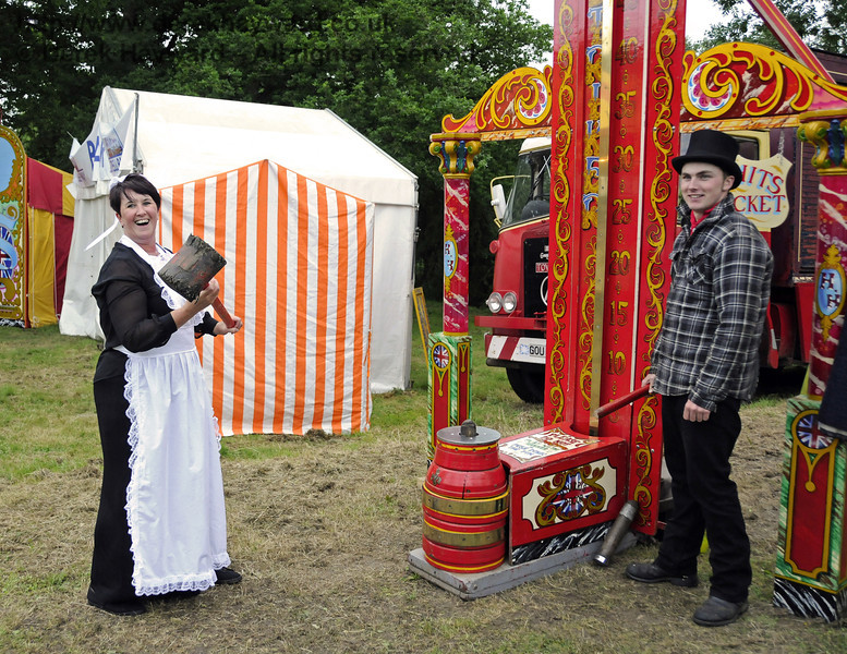 """After the event had closed and the public had left, the staff had some """"down time"""" in the fairground.  Edwardian Weekend, Horsted Keynes, 22.06.2013  9121"""