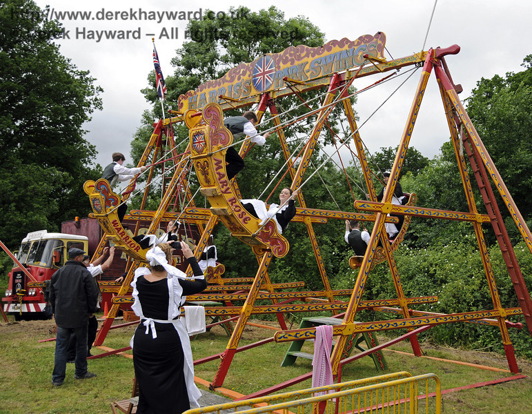 """After the event had closed and the public had left, the staff had some """"down time"""" in the fairground.  Edwardian Weekend, Horsted Keynes, 22.06.2013  9102"""