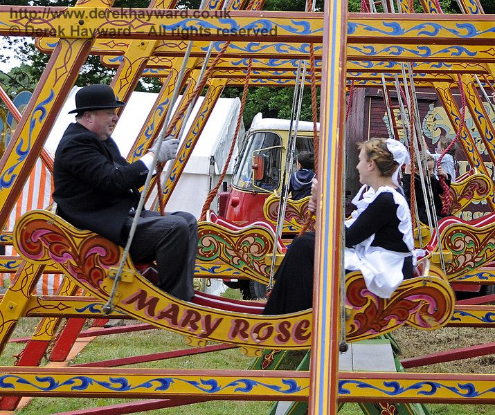 """After the event had closed and the public had left, the staff had some """"down time"""" in the fairground.  Edwardian Weekend, Horsted Keynes, 22.06.2013  9075"""