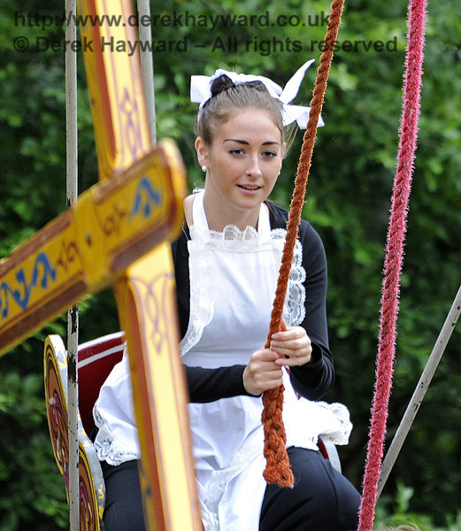 """After the event had closed and the public had left, the staff had some """"down time"""" in the fairground.  Edwardian Weekend, Horsted Keynes, 22.06.2013  7411"""