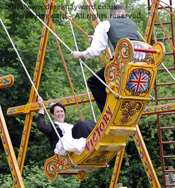 """After the event had closed and the public had left, the staff had some """"down time"""" in the fairground.  Edwardian Weekend, Horsted Keynes, 22.06.2013  7402"""
