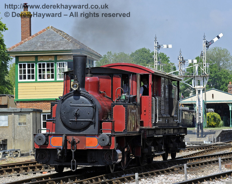 Captain Baxter was providing brake van rides.  Edwardian Weekend, Horsted Keynes, 18.05.2014  9374