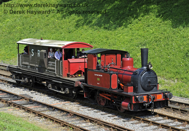 Captain Baxter was providing brake van rides.  Edwardian Weekend, Horsted Keynes, 18.05.2014  9407