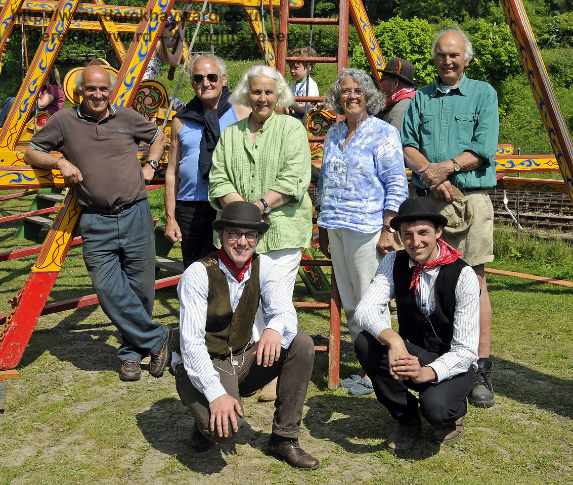 Three generations of the Harris family, who provide the fairground.  Edwardian Weekend, Horsted Keynes, 18.05.2014  10586
