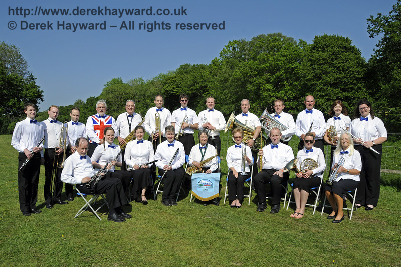 The Bluebell Railway Band.  Edwardian Weekend, Horsted Keynes, 18.05.2014  10620