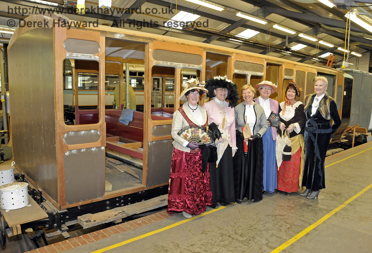 Edwardian ladies in the Carriage and Wagon Works at Horsted Keynes. 17.05.2014  10530