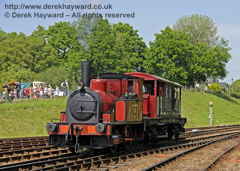 Captain Baxter was providing brake van rides.  Edwardian Weekend, Horsted Keynes, 18.05.2014  10547