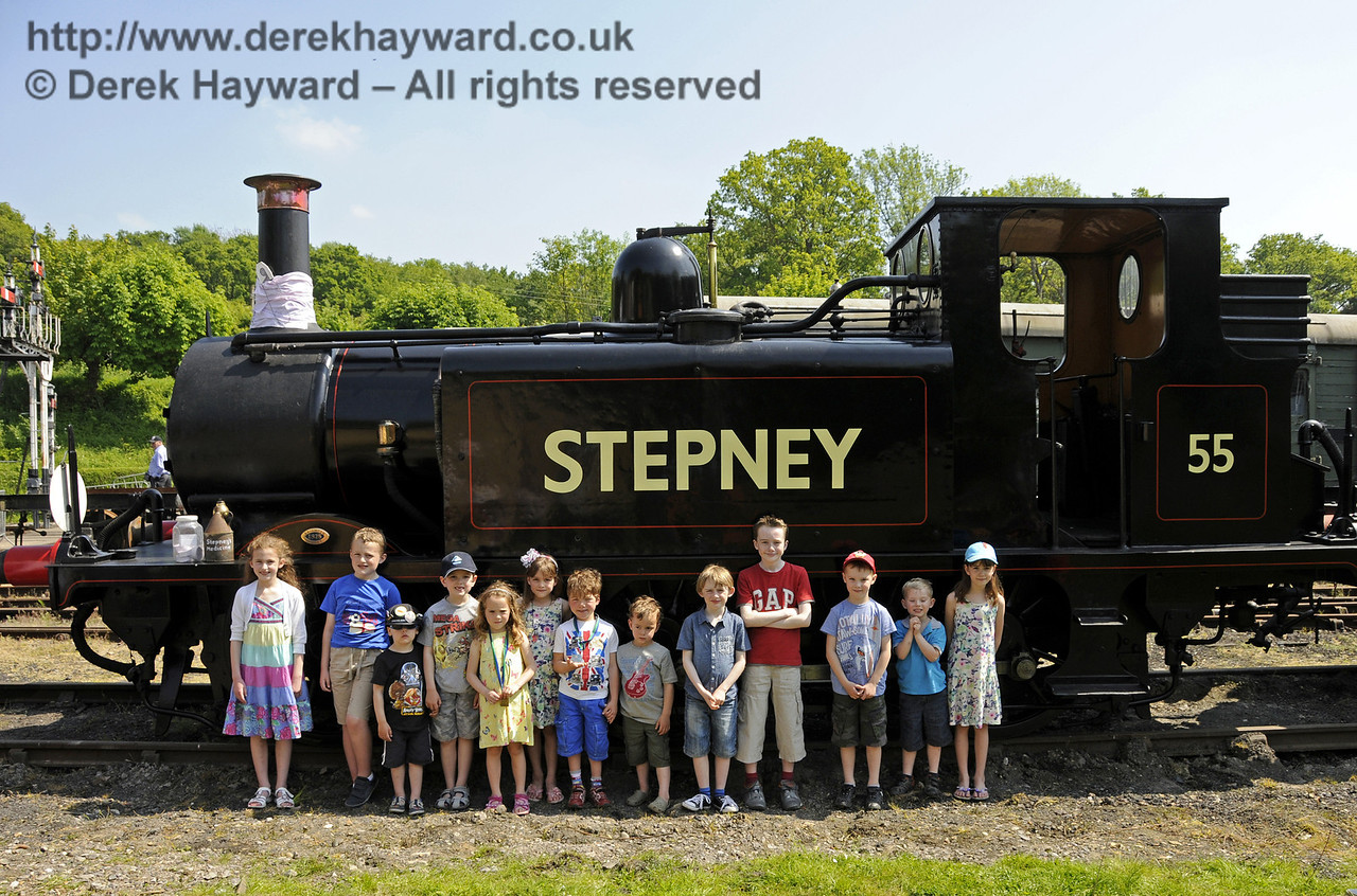 The Stepney Club had a 139th birthday party for Stepney during the Edwardian Weekend.  Horsted Keynes 18.05.2014  10570