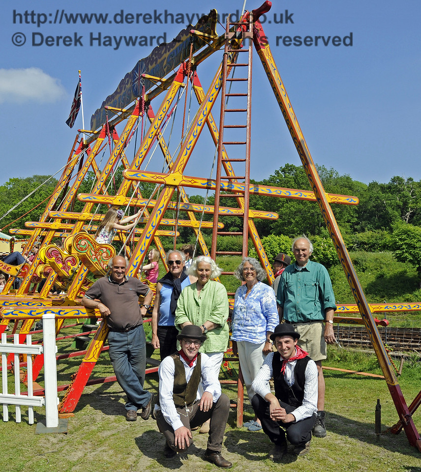 Three generations of the Harris family, who provide the fairground.  Edwardian Weekend, Horsted Keynes, 18.05.2014  10591