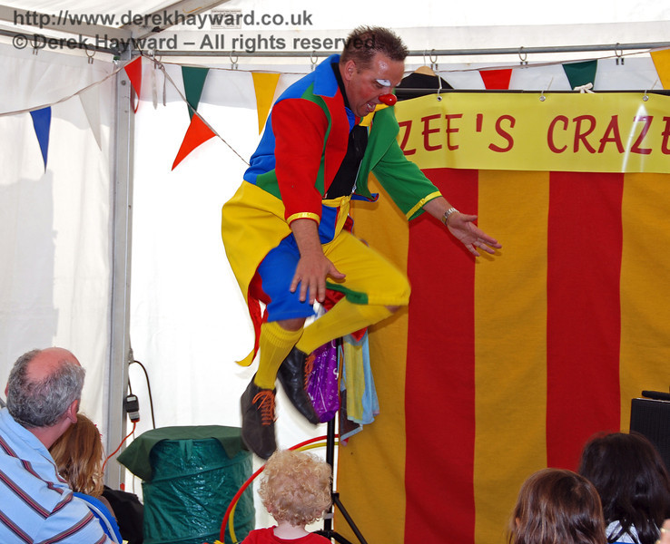 Leaping to great heights at Hazee's Crazee Circus. Family Fun Weekend Horsted Keynes 29.06.2008