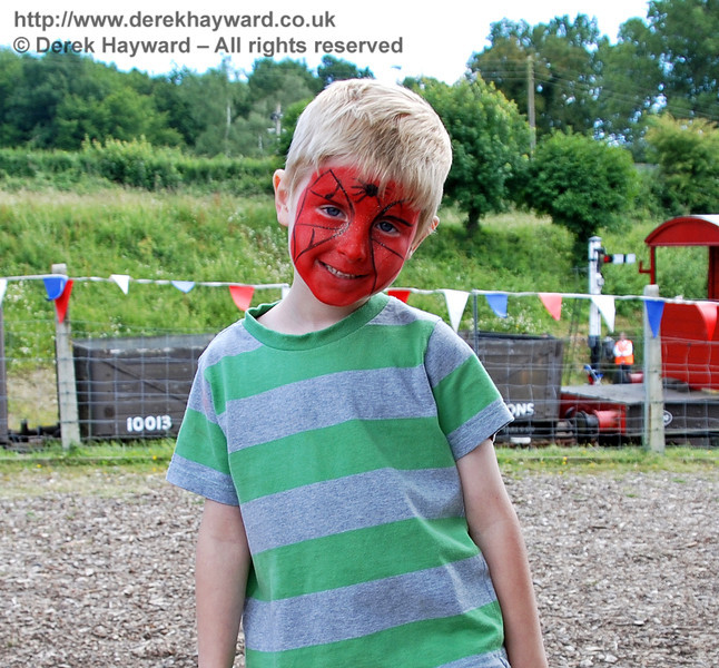 The face painters have struck again!  Family Fun Weekend Horsted Keynes 29.06.2008