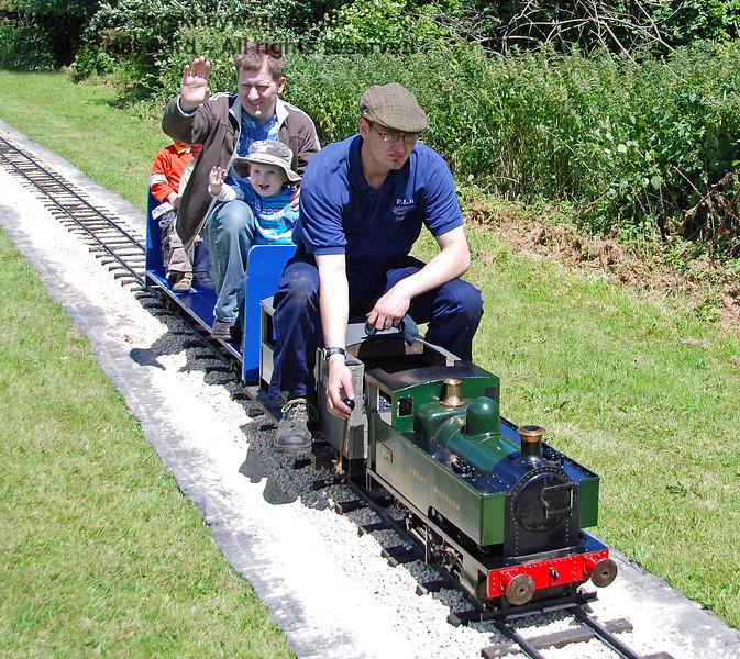 The miniature railway at Kingscote. The Family Fun Weekend 22.06.2008