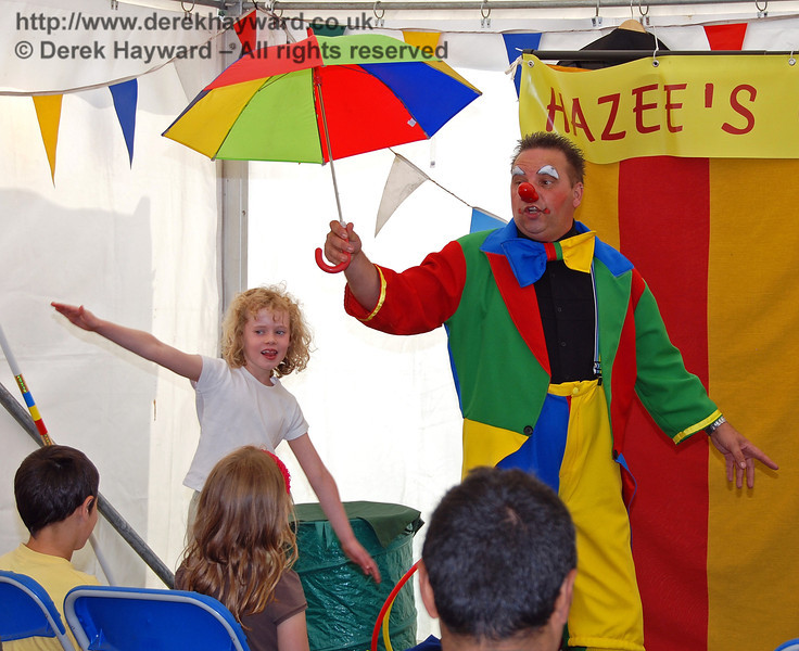 Walking the tight rope at Hazee's Crazee Circus. Family Fun Weekend Horsted Keynes 29.06.2008