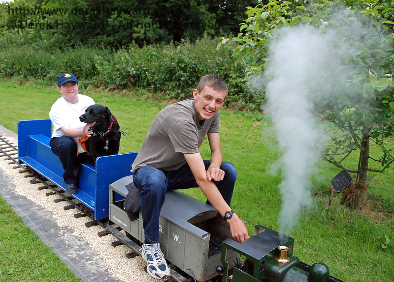The miniature train at Kingscote. Family Fun Weekend 29.06.2008