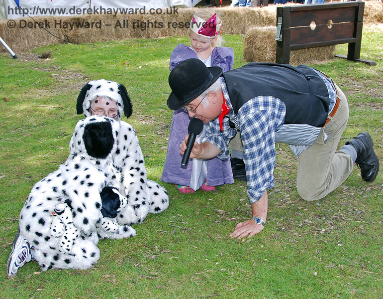 Interviewing the dogs in the Fancy Dress competition. The Family Fun Weekend 22.06.2008