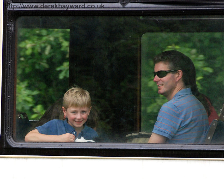 A family enjoying their ride in the Observation Car. Family Fun Weekend Kingscote 29.06.2008