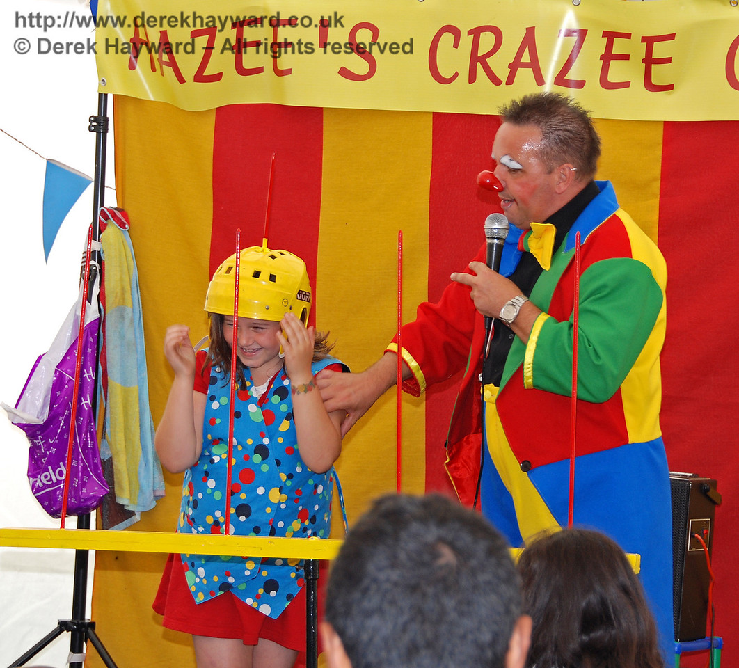 Don't ask questions; just put this silly hat on! Hazee's Crazee Circus. Family Fun Weekend Horsted Keynes 29.06.2008