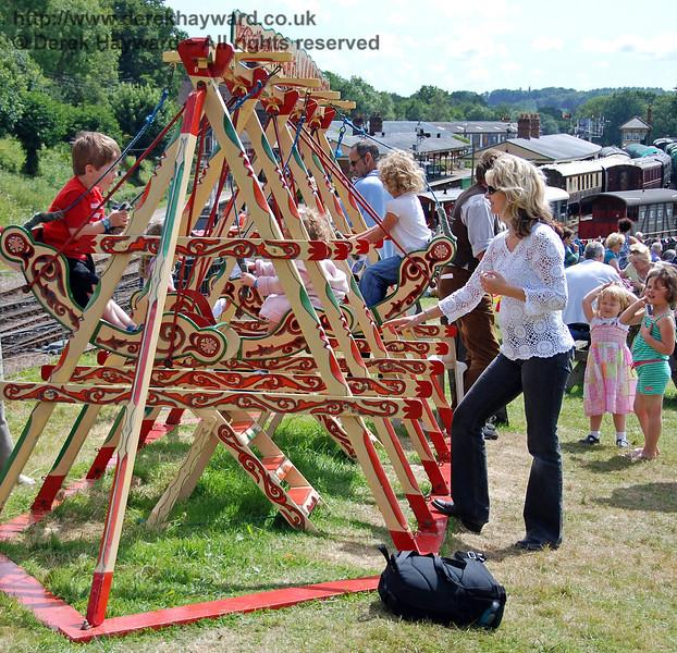 The swings at Horsted Keynes. Family Fun Weekend 29.06.2008