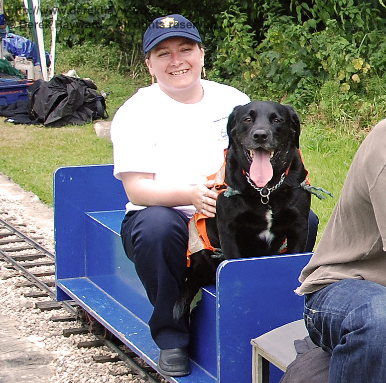 The miniature railway at Kingscote even catered for very well behaved dogs - who enjoyed their ride!! Family Fun Weekend 29.06.2008
