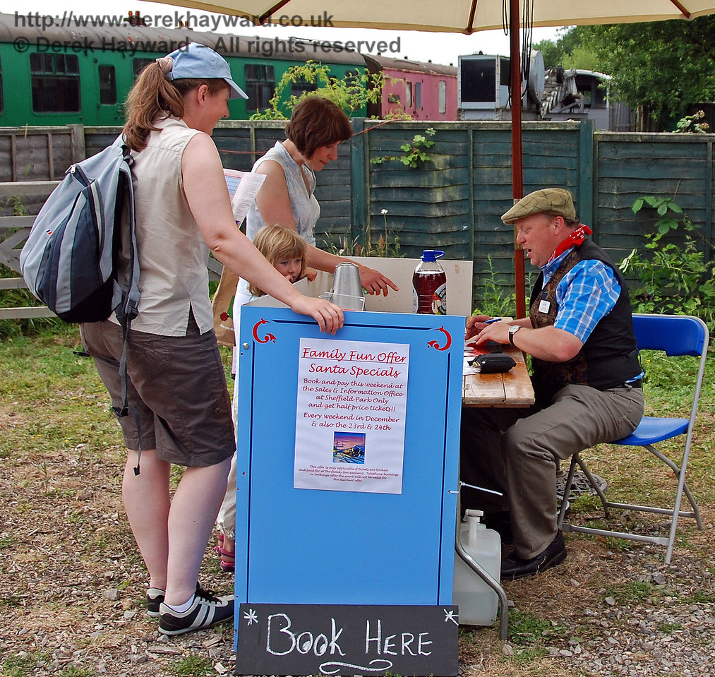 Our highly efficient Commercial Director was actually selling half price Santa tickets to Family Fun Day visitors. What a bargain! Horsted Keynes 28.06.2009