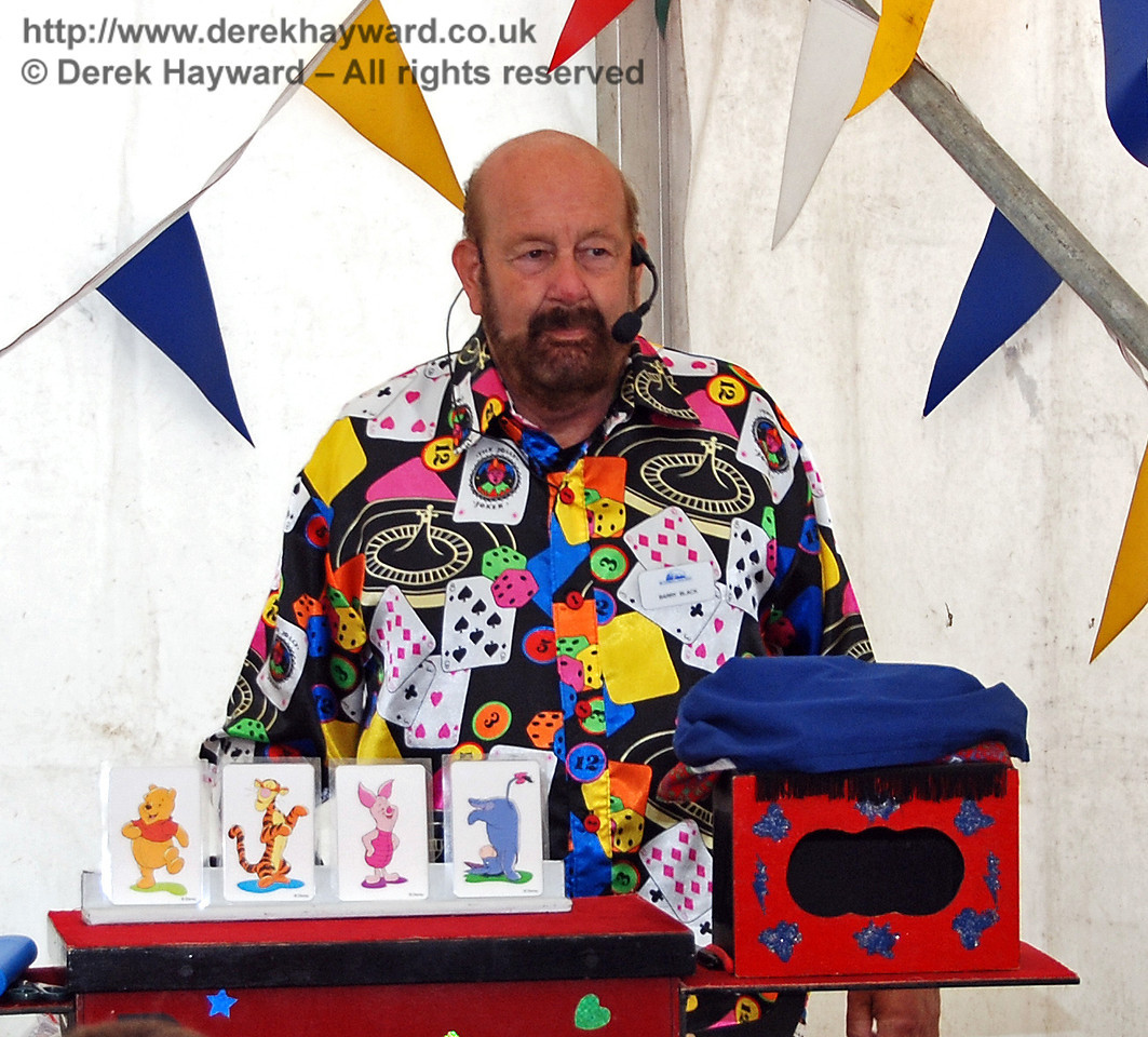 Barry Black presents the magic show. Horsted Keynes 28.06.2009