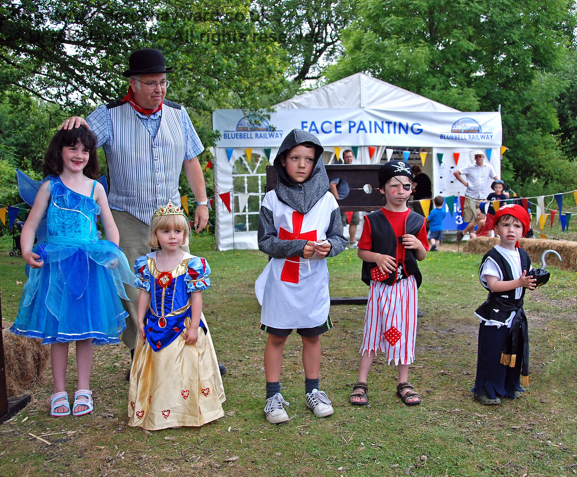 The fancy dress competition. Horsted Keynes 28.06.2009.  After cheering from parents that was judged to be somewhat biased the Squire decided that they would all win.