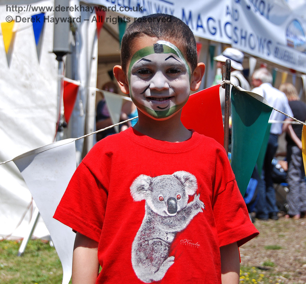 Another example of the high quality face painting. Horsted Keynes 27.06.2009