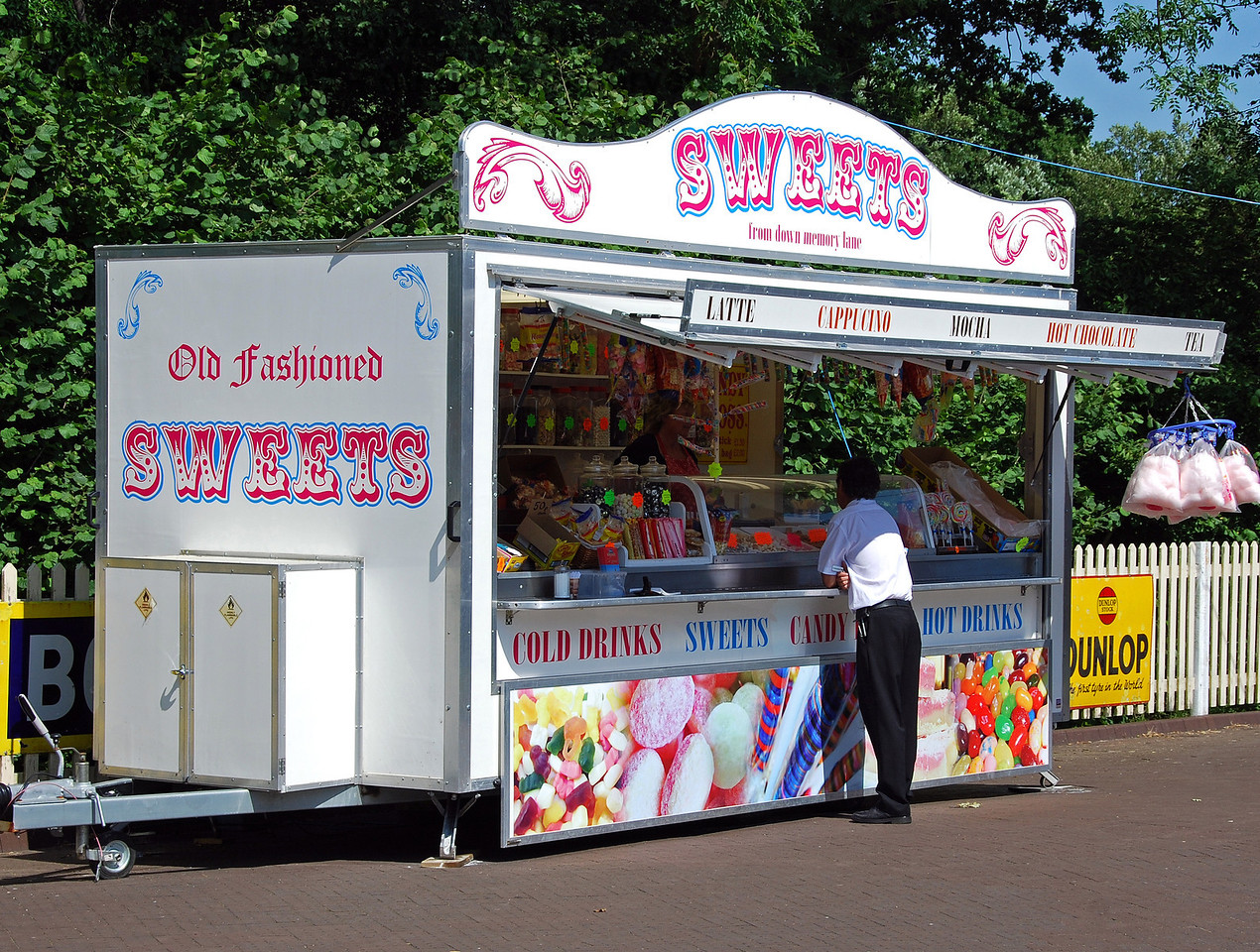 The popular sweet stall at Sheffield Park. 27.06.2009