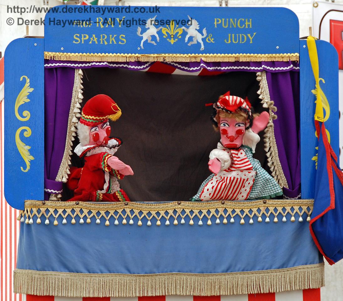Punch and Judy performed at regular intervals. Horsted Keynes 27.06.2009