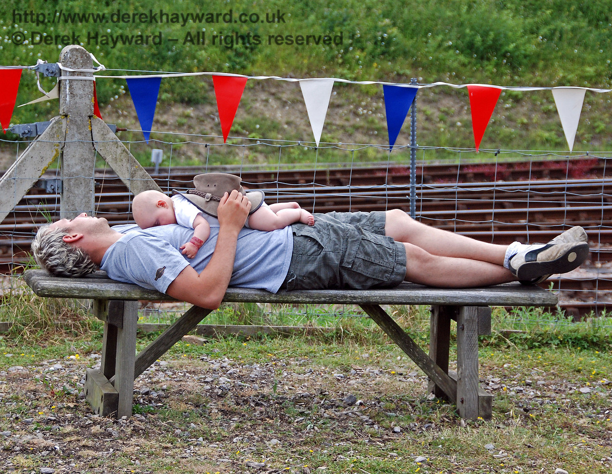 The excitement of the day was too much for some visitors... Horsted Keynes 28.06.2009