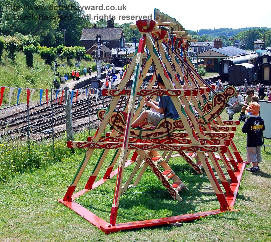 The swings at Horsted Keynes. 27.06.2009