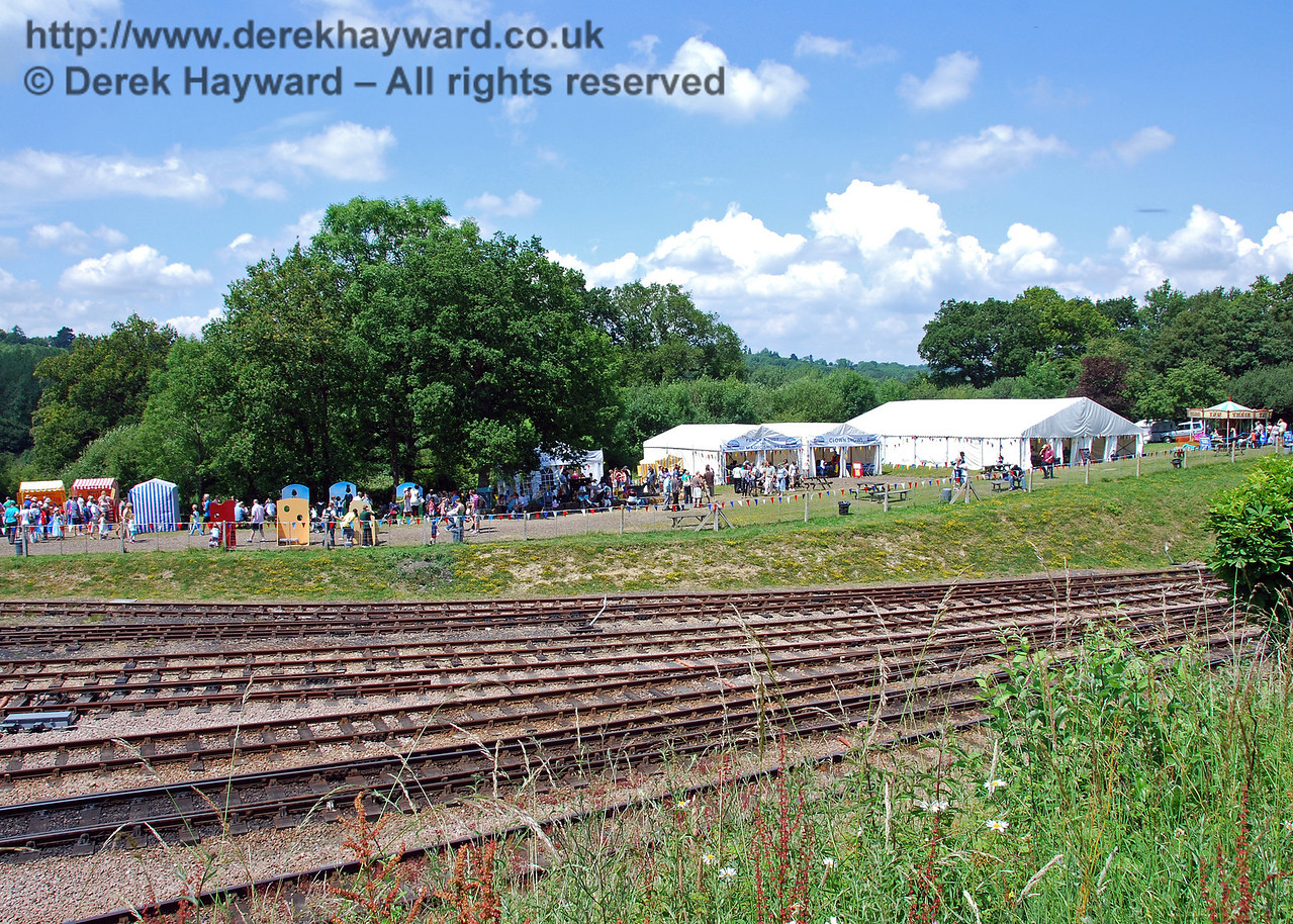 The show area at Horsted Keynes. 27.06.2009