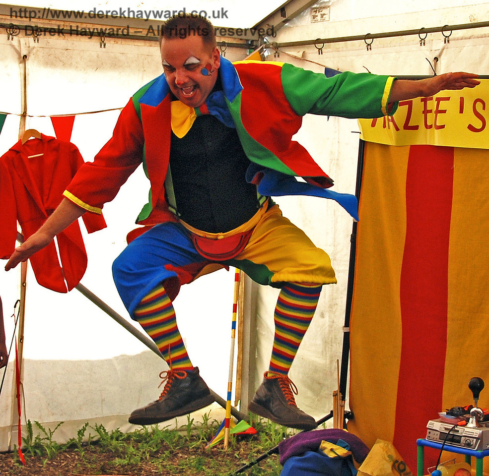 Hazee in mid-air!  Horsted Keynes 27.06.2009