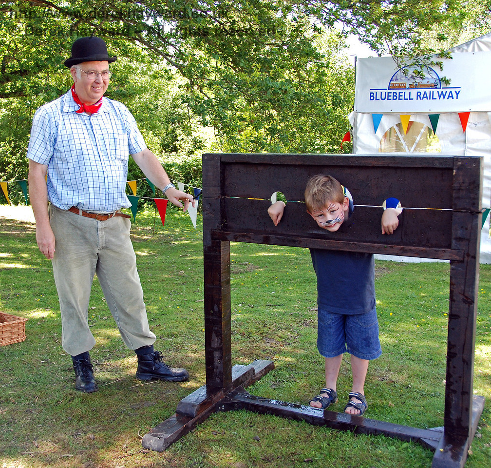 Totally innocent children were being confined in the stocks and pelted with wet sponges. Disgraceful!    Horsted Keynes 27.06.2009