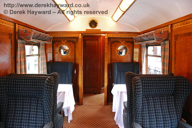 The interior of Pullman Car Doris, open for viewing at Horsted Keynes. 20.10.2007