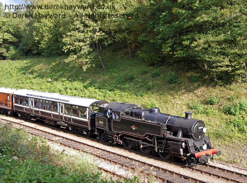 80151 returns to Horsted Keynes with the Observation Car. 20.10.2007