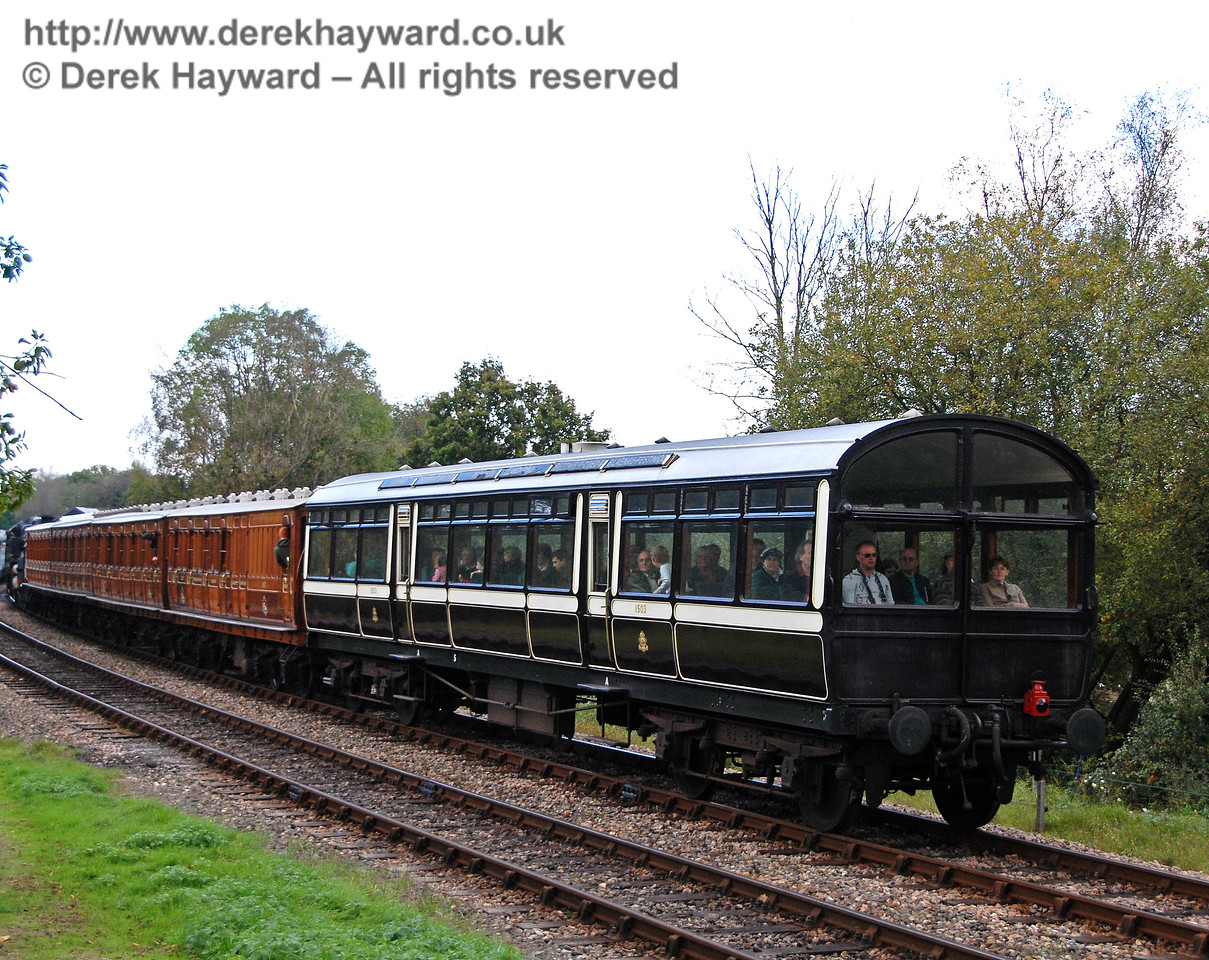 Bringing up the rear on the Victorian coaches was the Observation Car. Kingscote 20.10.2007