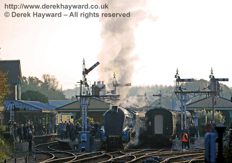 A busy Horsted Keynes station, with 4464 Bittern about to depart.  31.10.2015  12404