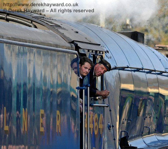 The crew on board 4464 Bittern at Horsted Keynes.  01.01.2015  12471